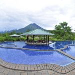 Hotel viewing the Arenal Volcano with onsite Hot Springs