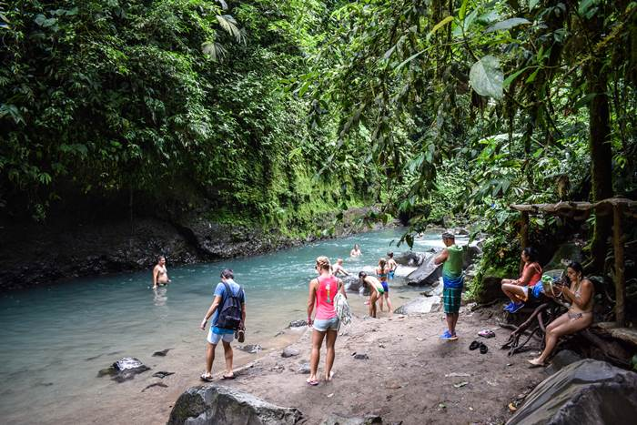 Rock Pools ( El Salto ) La Fortuna Arenal Free things to do on your own