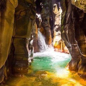 El santuario or cathedral waterfall Costa Rica